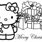 Hello Kitty Coloring Pages | Hello Kitty Christmas Card Printable