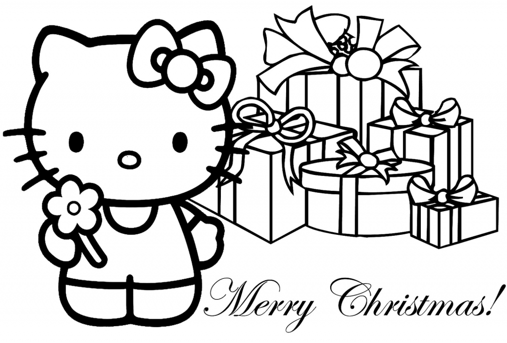 Hello Kitty Coloring Pages | Hello Kitty Christmas Card Printable