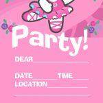 Hello Kitty Invitations | Pink Hello Kitty Ballet / Ballerina Party | Hello Kitty Birthday Card Printable Free