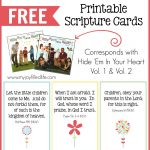 Hide 'em In Your Heart Scripture Cards {Free Printable}   My Joy | Free Printable Bible Verse Cards