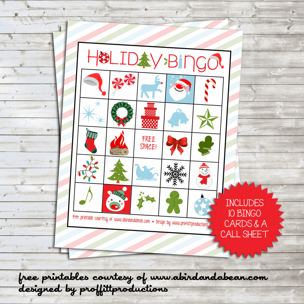 Holiday Bingo Set :: Free Printable | Free Printable Bingo Cards And Call Sheet