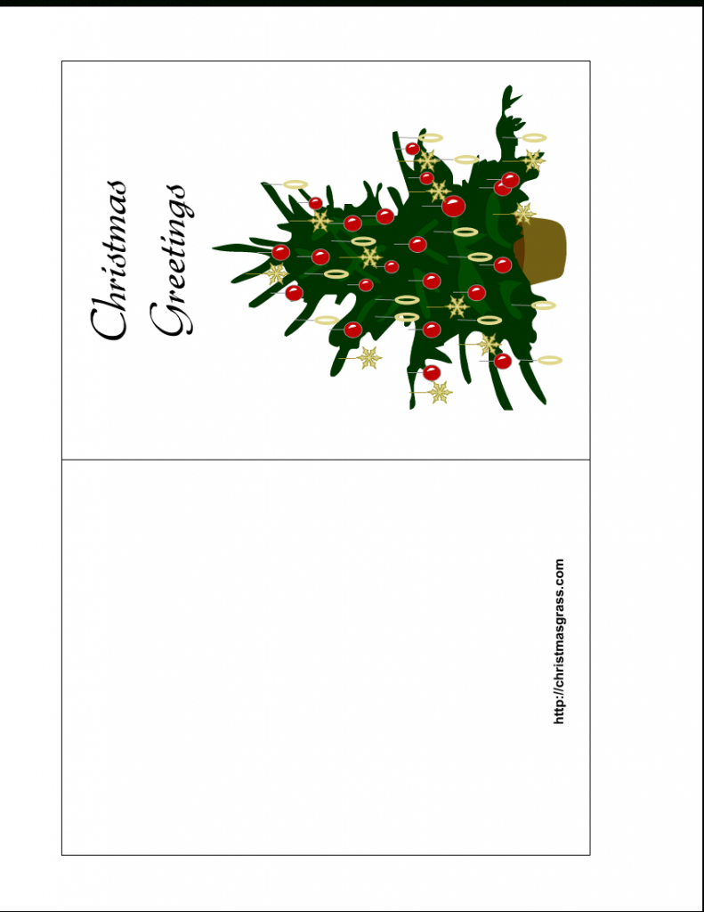 Holiday Greeting Card With Christmas Tree | Printable Holiday Photo Cards