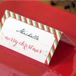 Holiday Place Card Diy Printable | Free Printable Christmas Table Place Cards Template