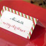 Holiday Place Card Diy Printable | Free Printable Place Card Templates Christmas