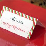 Holiday Place Card Diy Printable | Party Planning | Christmas Place | Christmas Table Name Cards Free Printable