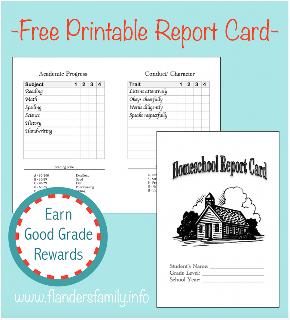 Home School Report Cards - Flanders Family Homelife | Free Printable Grade Cards