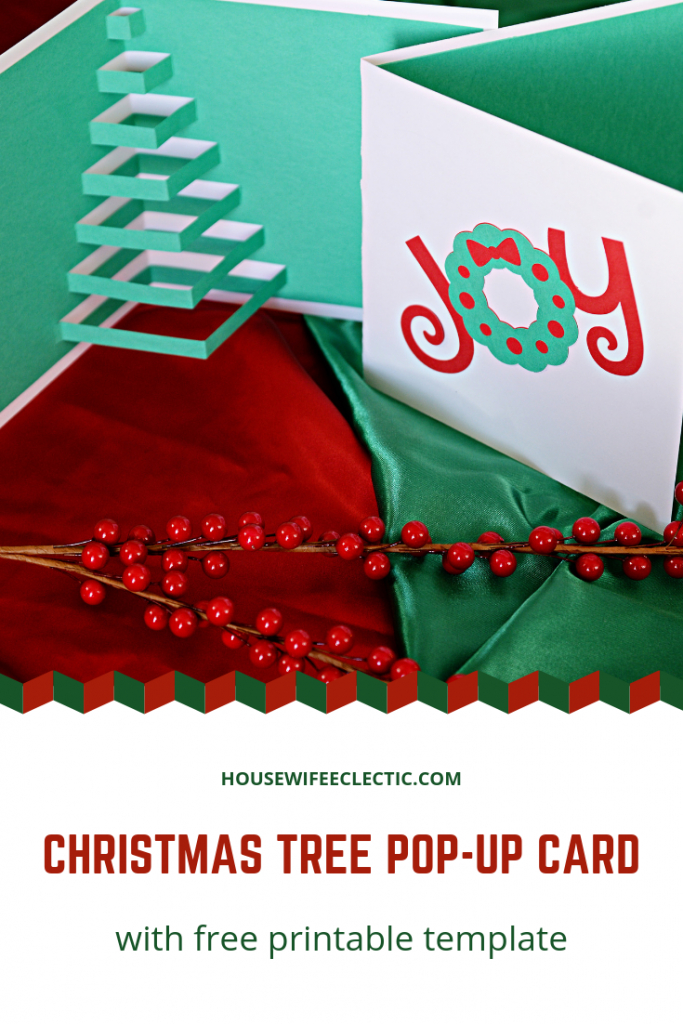 Homemade Pop-Up Christmas Tree Card (With Free Printable Template | Homemade Card Templates Printable