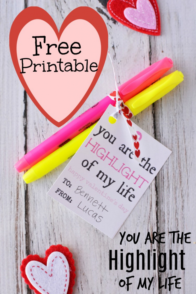 """Homemade Valentine Cards - """"you Are The Highlight Of My Life"""" - Non   Homemade Valentine Cards Printable"""