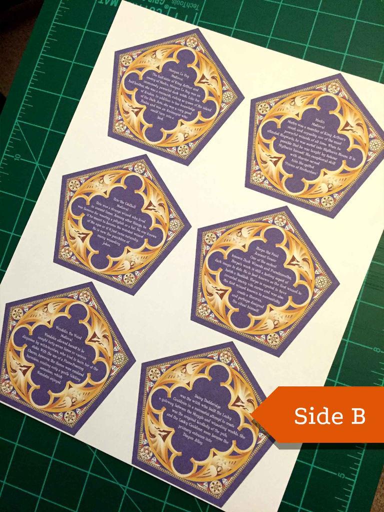 Honeyduke's Chocolate Frog Cards: 3 Steps | Harry Potter Chocolate Frog Cards Printable