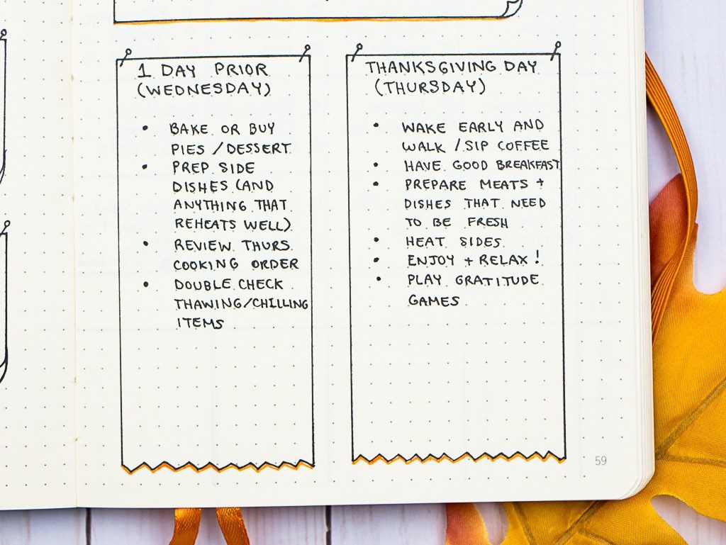 Hosting Thanksgiving Checklist Menu Planner Printables Dinner Food | Printable Recipe Card Templates Martha Stewart