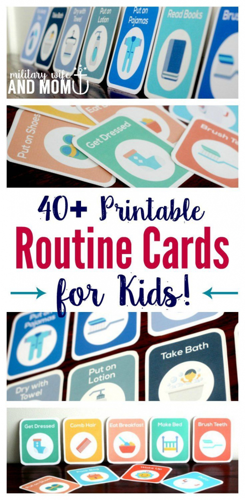 How To Get Kids To Follow A Routine Independently - Without Nagging | Printable Routine Cards For Toddlers