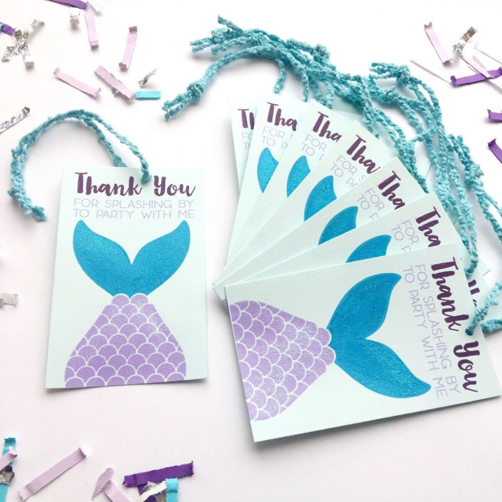 How To Plan The Ultimate Mermaid Birthday Party | Free Printable Mermaid Thank You Cards