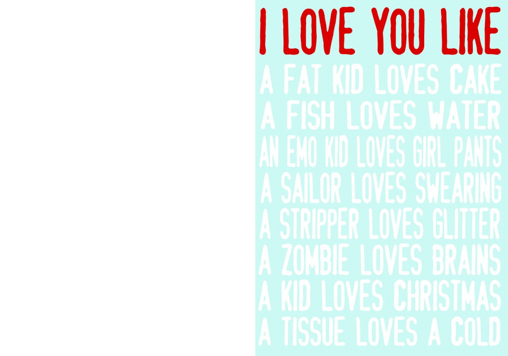 I Love You Like Printable Valentine Cards - Girl Loves Glam | Printable Adult Valentines Day Cards