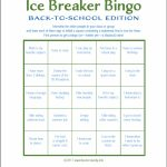 Ice Breaker Bingo: Back To School Version   Flanders Family Homelife | Printable Icebreaker Bingo Cards