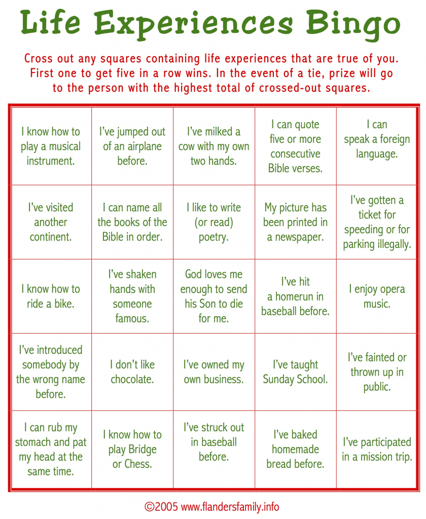 Ice Breaker Bingo (Free Printable) - Flanders Family Homelife | Printable Icebreaker Bingo Cards