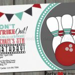 Ideas: Outstanding Bowling Invitations For Your Charming Party | Bowling Birthday Cards Printable