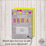 Instant Download  Birthday Gift Card Printable   Bday003A   Birthday | Printable Gift Card Holder Birthday