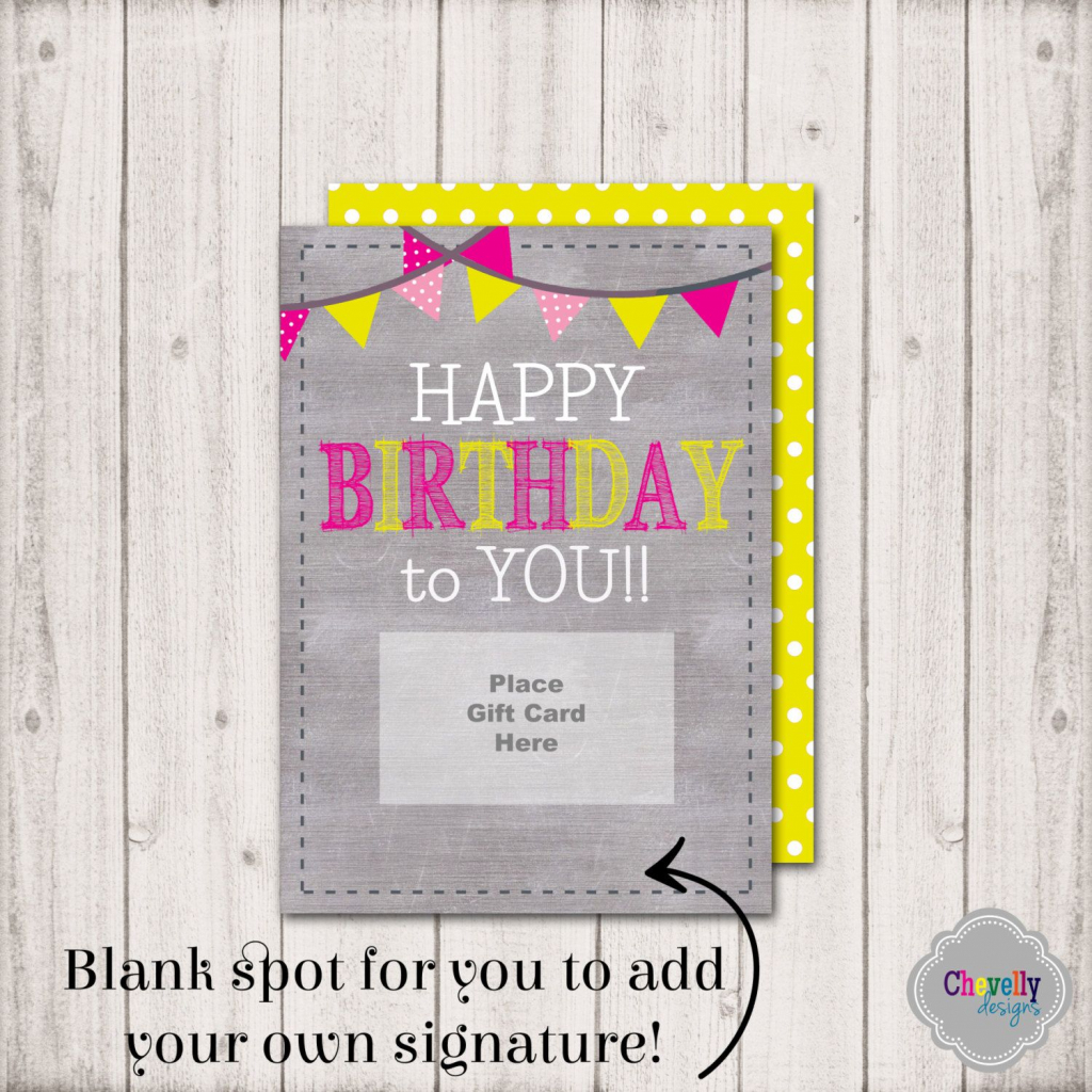 Instant Download -Birthday Gift Card Printable - Bday003A - Birthday | Printable Gift Card Holder Birthday