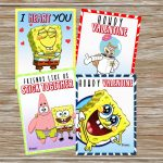 Instant Download Printable Spongebob Valentine Cards Set | Etsy | Spongebob Valentine Cards Printable