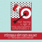 Instant Download Target Gift Card Holder Amazing Teacher | Etsy | Printable Target Gift Card