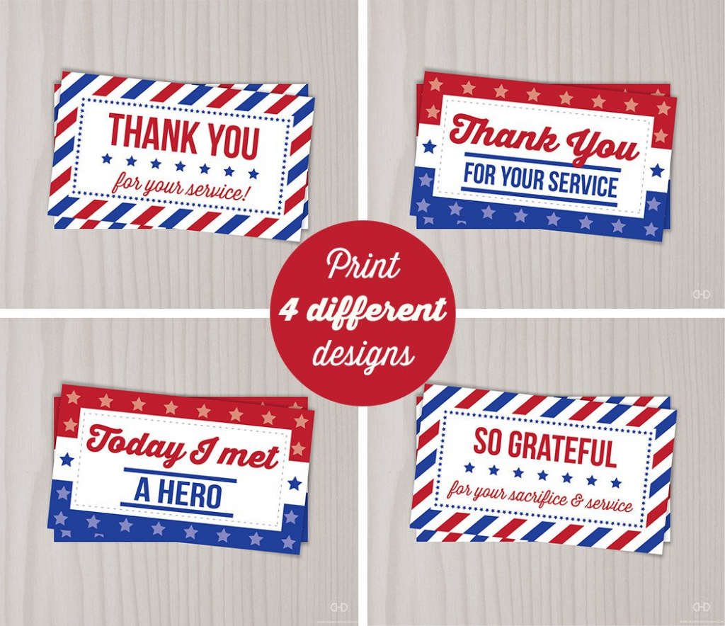 Instant Download Veterans Day Thank You Cards Military Thank | Etsy | Military Thank You Cards Free Printable