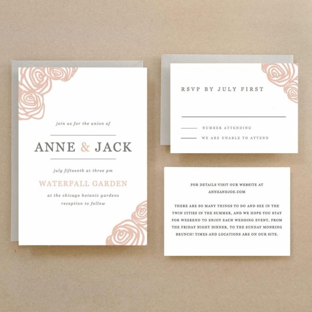 Invitation - Printable Wedding Invitation Template #2435558 - Weddbook | Printable Wedding Invitation Card Sample