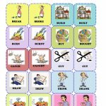 Irregular Verbs Memory Card Game( 1/3) Worksheet   Free Esl | Esl Card Games Printable