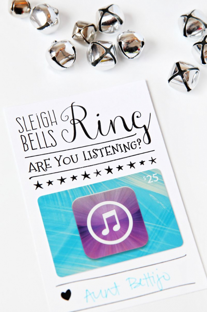 Itunes Gift Card Christmas Packaging | Gifting | Itunes Gift Cards | Printable Itunes Gift Card