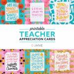 Jane Free Teacher Appreciation Printable Cards | Teacher   Free | Printable Teacher Appreciation Cards