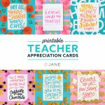 Jane Free Teacher Appreciation Printable Cards | Teacher | Free Teacher Appreciation Week Printable Cards