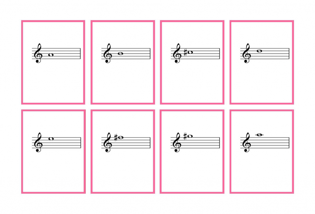 Journal Cards | Complete Set Violin Flash Cards – Printable | Denley | Piano Music Notes Flash Cards Printable