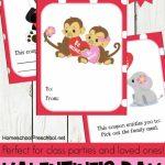 Jungle Love Animal Themed Printable Valentine Cards For Kids | Free Printable Valentines Day Cards Kids