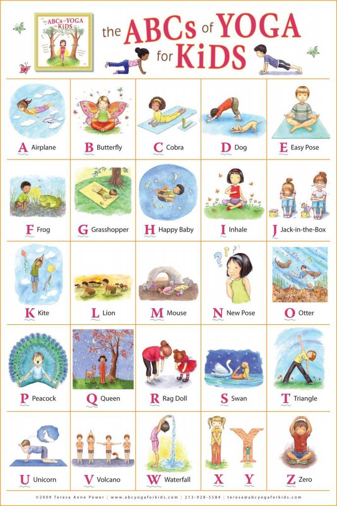 "Kathleen Rietz - Illustration And Design: ""the Abcs Of Yoga For Kids | Abc Yoga Cards Printable"