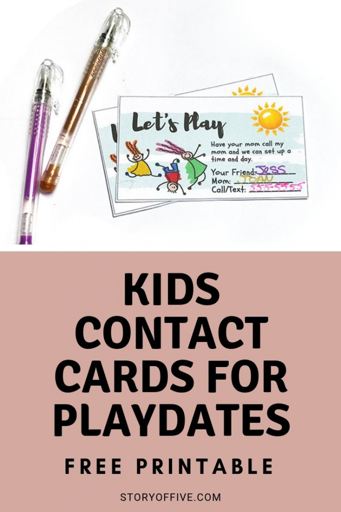 "Kids Play Date / Keep In Touch Cards | ""the Pinterest Group Board 