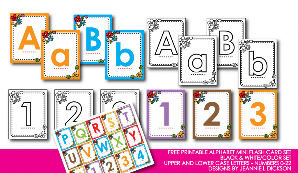 Kindergarten Alphabet Cards | Free Printable Alphabet Mini Flash | Upper And Lowercase Letters Printable Flash Cards