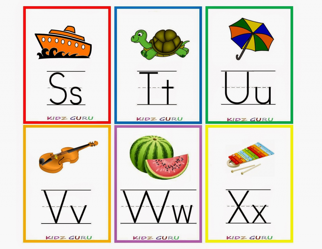Kindergarten Worksheets: Printable Worksheets - Alphabet Flash Cards 4 | Printable Alphabet Flash Cards