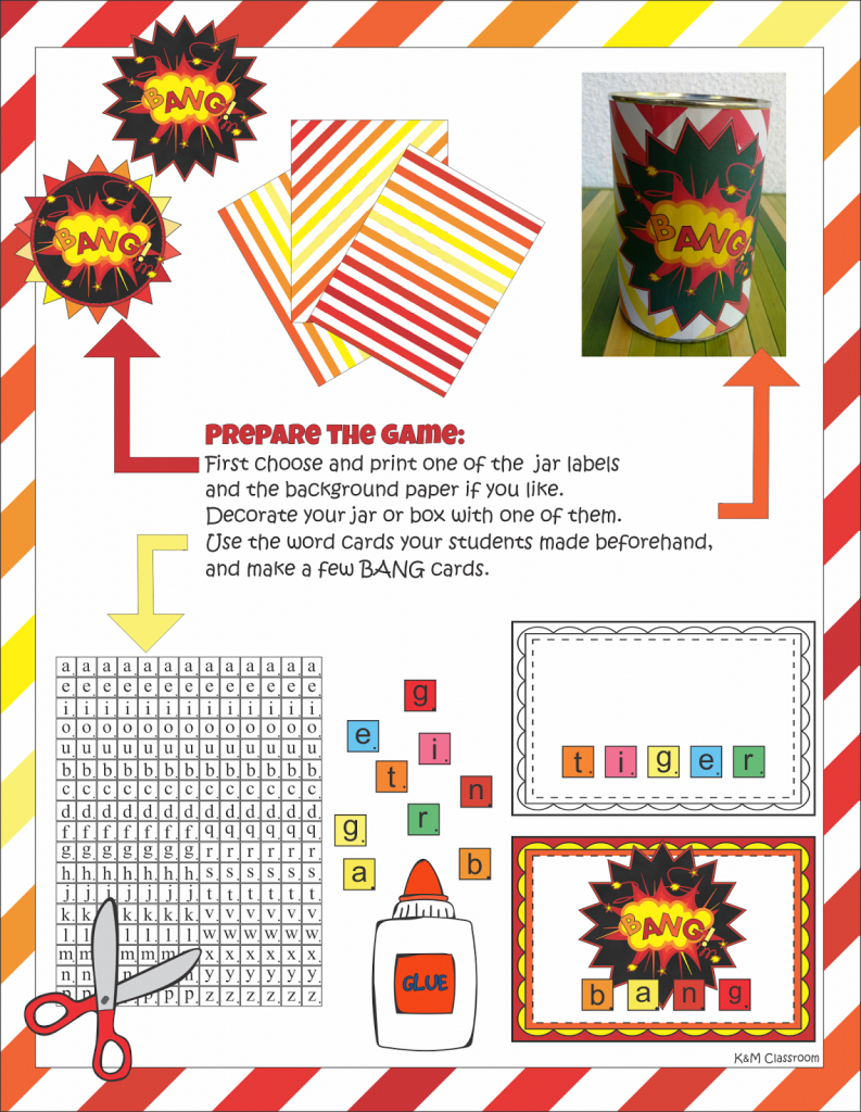 Km Classroom: Bang Or Kaboom Must-Have Classroom Game | Bang Card Game Printable