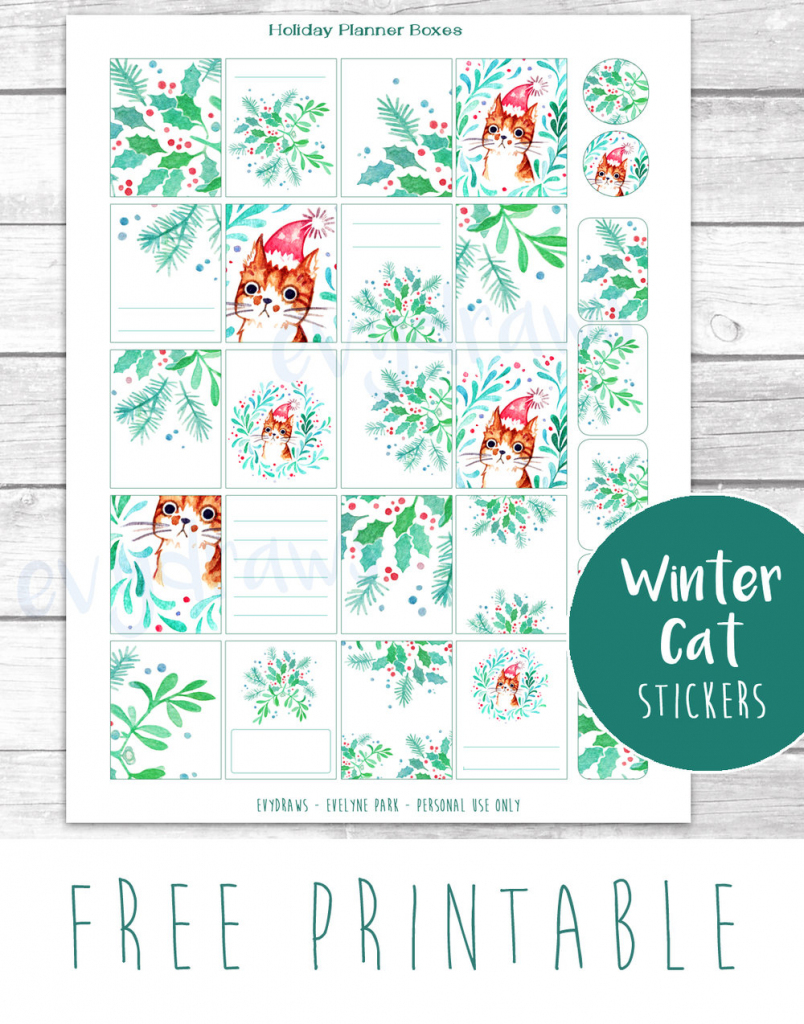 Last-Minute Diy: Free Printable Gift Tags, Stickers & Cards — Evydraws | Free Printable Personal Cards