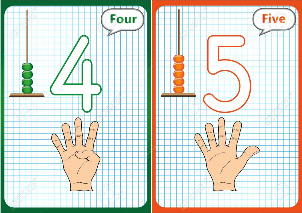 Learning The Numbers 0-10, Flash Cards, Educational Preschool | Printable Abacus Flash Cards