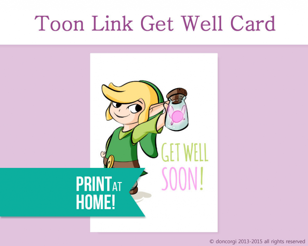 Legend Of Zelda Get Well Card Printable Card Get Well Soon | Etsy | Feel Better Card Printable