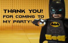 Lego Batman Thank You Cards | Lego Batman-Super Heros Printables | Batman Thank You Cards Printable