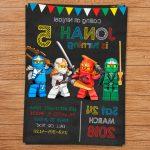 Lego Ninjago Papercraft Template | Bestpaperdom | Ninjago Printable Birthday Card