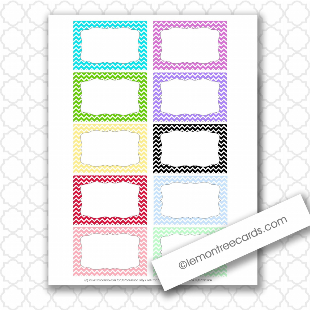 Lemon Tree Cards Blog: Freebie Friday - Tiny Chevron Note Cards | Free Printable Note Cards