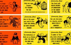 Monopoly Chance And Community Chest Cards Printable