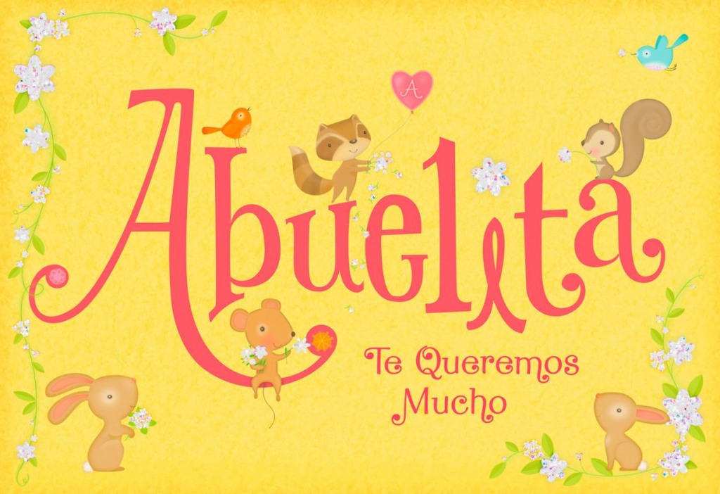 Little Animals Spanish-Language Mother's Day Card For Grandma | Mothers Day Cards In Spanish Printable