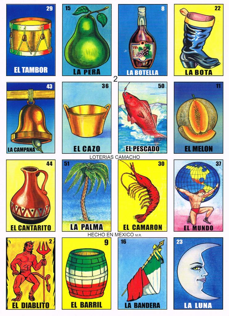 Loteria De Camacho | Scripturient | Mexican Loteria Cards Printable