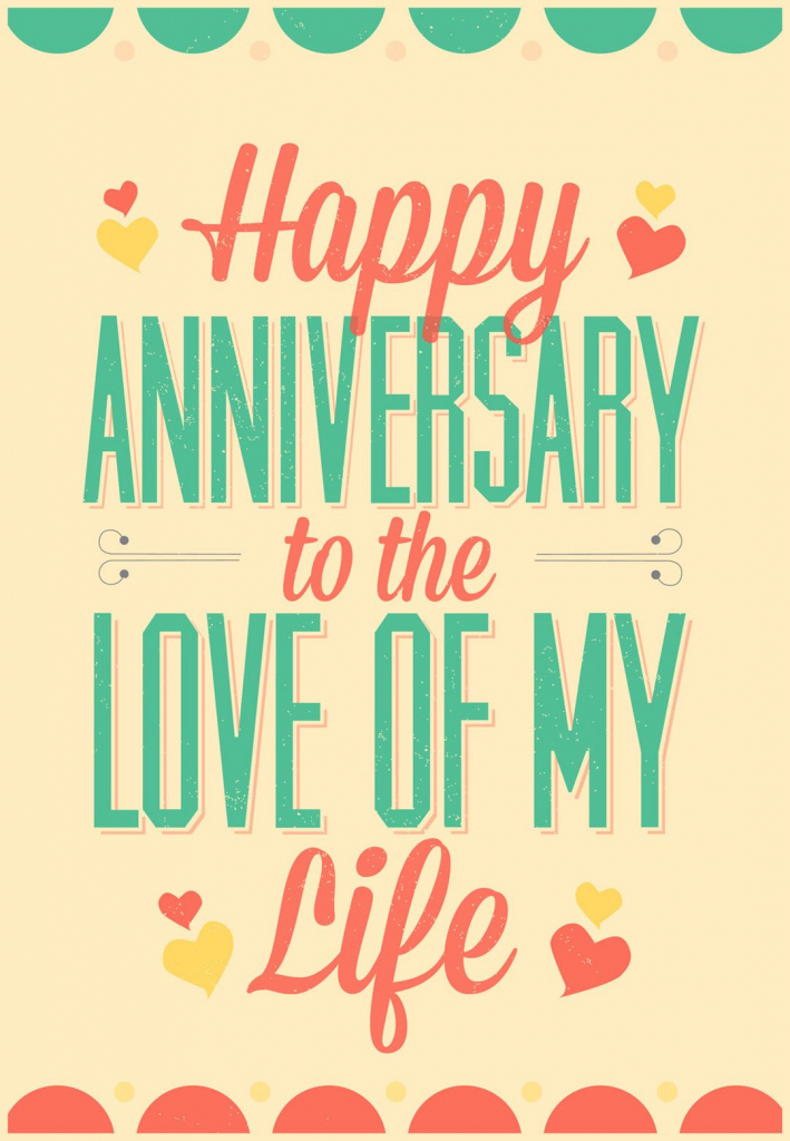 Love Of My Life - Free Printable Anniversary Card | Greetings Island | Printable Anniversary Cards For My Wife