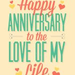 Love Of My Life   Free Printable Anniversary Card | Greetings Island | Printable Cards Free Anniversary