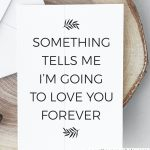 Love Quote Valentine's Day Card, Romantic Card, Love Card For Him | Valentines Cards For Her Printable