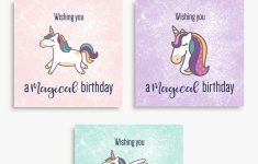 Magical Unicorn Birthday Printable Cards | Tis' Better To Give | 9Th Birthday Cards Printable